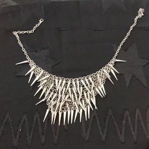Women's spiky metal necklace